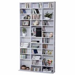 Dixon Media Storage Bookcase White