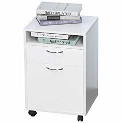 Easton Desk Drawer Unit with Cupboard White