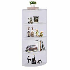 Lincoln 4 Tier Corner Shelf White