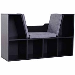 Nash Reading Seat with Storage Black