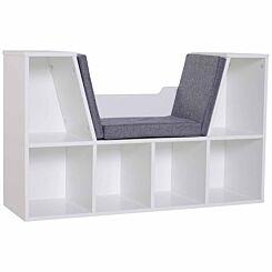 Nash Reading Seat with Storage White