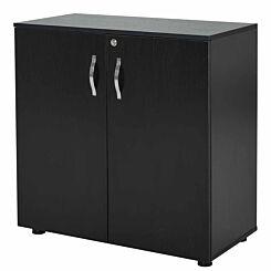 Melania 2-Tier Locking Office Storage Cabinet Black