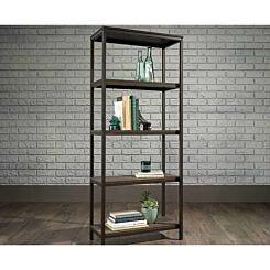 Teknik Office Industrial Four Shelf Bookcase Oak