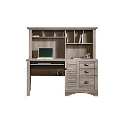 Teknik Office Louvre Desk with Overshelving