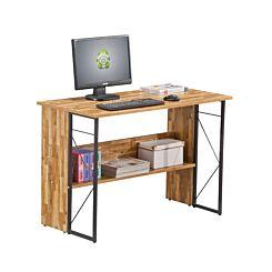 Alphason Rhodes Walnut and Grey Office Desk