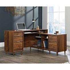 Teknik Clifton Place Walnut Effect L-Shaped Desk