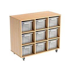Busybase Mobile Tub Storage Furniture 3 x 3