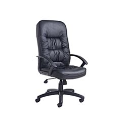 King Leather Faced Chair Black