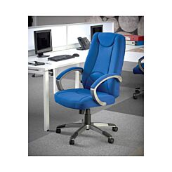 Lucca Fabric Cantilever Managers Chair Blue