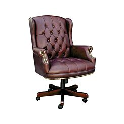 Teknik Office Chairman Swivel Executive Office Chair Burgundy