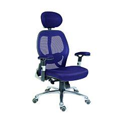 Teknik Office Cobham Luxury Mesh Back Executive Chair Blue