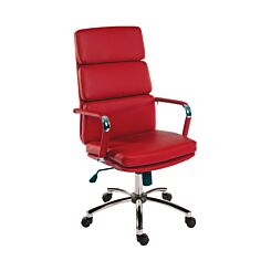 Teknik Office Deco Executive Retro Style Chair Red