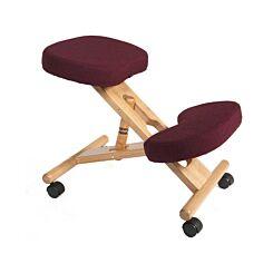 Teknik Office Wooden Posture Kneeling Chair Burgundy