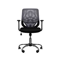 Atlanta Full Back Mesh Fabric Chair with Arms Grey
