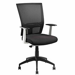 Pago Radar II White Synchro Ergonomic Chair with Arms