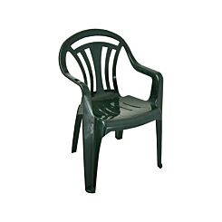 Low Back Plastic Garden Chair Green