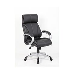 Eliza Tinsley Leather Faced Managers Chair Black