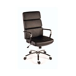 Teknik Office Deco Executive Chair Faux Leather Black