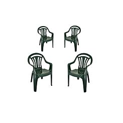 Low Back Garden Chair Pack of 4