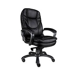 Eliza Tinsley Leather Executive Office Chair Black
