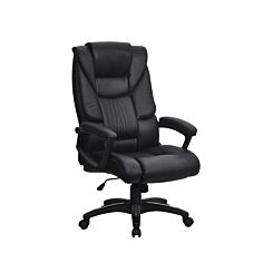 Eliza Tinsley Leather Effect Executive Chair Black