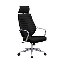 Eliza Tinsley Chrome Base Executive Chair Black
