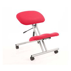 Dynamic Kneeling Stool with Silver Frame