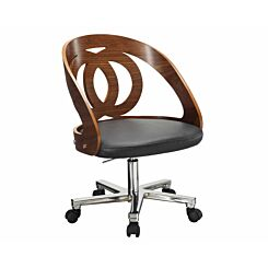 Jual Helsinki Wooden Swivel Office Chair