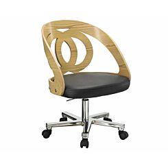 Jual Helsinki Wooden Swivel Office Chair