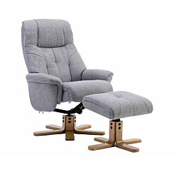 Teknik Denver Fabric Recliner with Matching Footstool