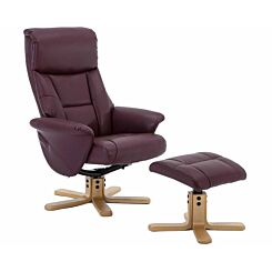Teknik Montreal PU Recliner with Matching Footstool