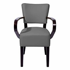 Tabilo Sena Faux Leather Dining Arm Chair Grey