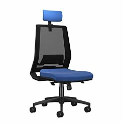 TC Office Rome Mesh High Back Chair with Headrest Blue