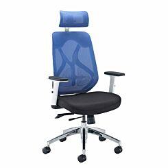 Maldini Designer High Back Mesh Task Office Chair Blue