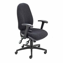 TC Office Maxi Ergo Chair with Folding Arms Charcoal