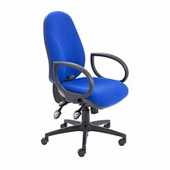 TC Office Maxi Ergo Chair with Fixed Arms Blue