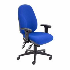 TC Office Maxi Ergo Chair with Adjustable Arms Blue