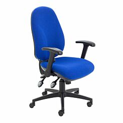 TC Office Maxi Ergo Chair with Folding Arms Blue