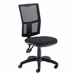 TC Office Calypso High Back Twin Lever Operator Chair with Mesh Back Black