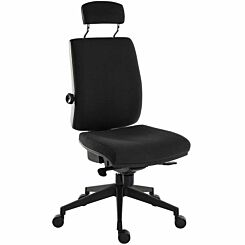 Teknik Office Ergo Plus Ultra Fabric Chair with Headrest Black