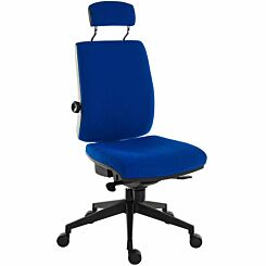 Teknik Office Ergo Plus Ultra Fabric Chair with Headrest Blue