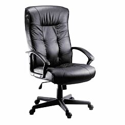 Teknik Office Gloucester Leather Faced Executive Chair