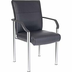 Teknik Office Greenwich Leather Faced Reception Chair
