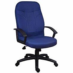Teknik Office Mayfair Fabric Executive Armchair Blue