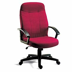 Teknik Office Mayfair Fabric Executive Armchair Burgundy