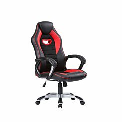 TC Office Racer Chair with Silver Base Red