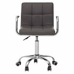 Interiors by PH Square PU Office Chair Grey