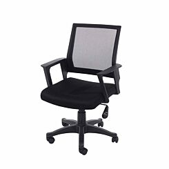 Loft Home Office Chair with Mesh Back and Fabric Seat