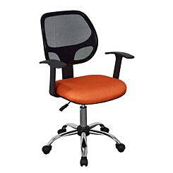 Loft Home Office Chair with Mesh Back and Orange Fabric Seat