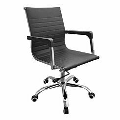Loft Home Office Faux Leather Chair with Contour Back